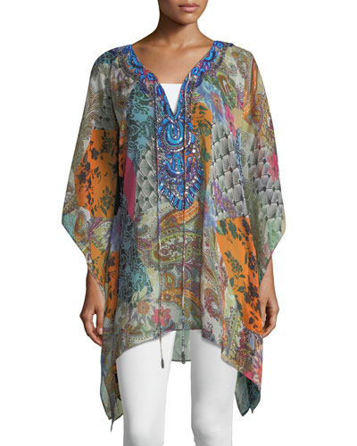Beaded Patchlook Coverup