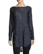 Botanic Jacquard Long-Sleeve Tunic