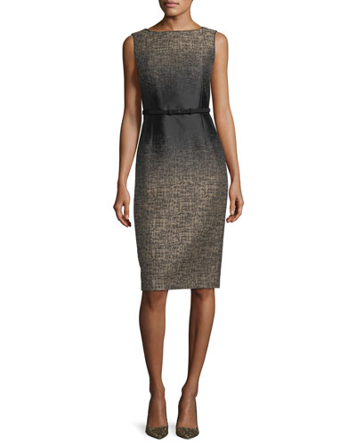 Paulette Ombré-Print Sheath Dress