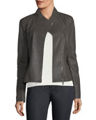 Alice Weathered-Leather Jacket