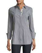 Jake Kingsbridge Stripe Shirting Blouse