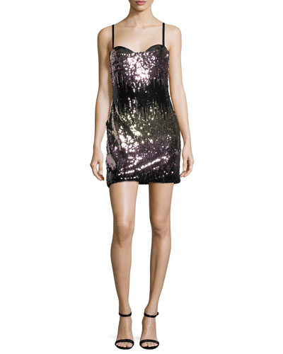 Naomi Ombre Sequins Mini Cocktail Dress