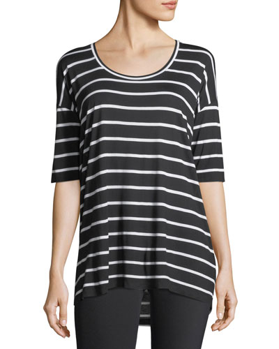 Kristen Striped Jersey Top