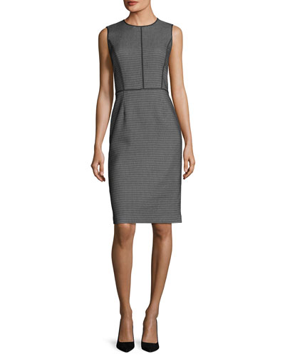 Bree Modular Jacquard Sheath Dress