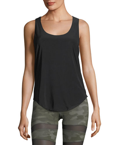 Glossy Flow Racerback Scoop-Neck Performance Tank