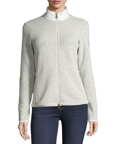 Grace Long-Sleeve Zip-Front Jacket