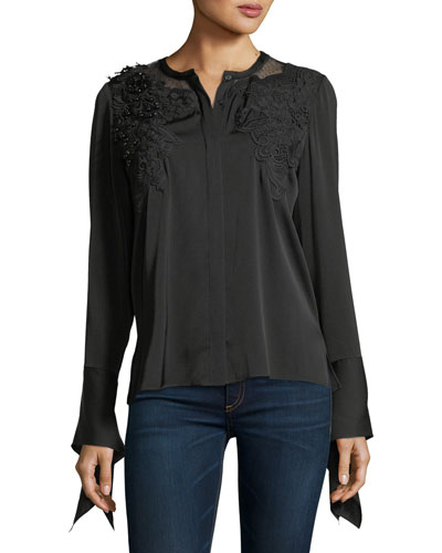 Keissay Long-Sleeve Blouse