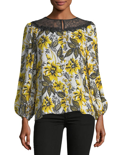 Stevie Floral-Print Blouse