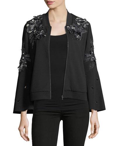 Colie Floral-Appliqué Jacket