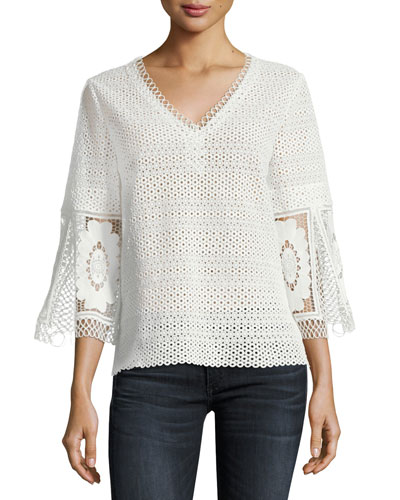 Carline Eyelet Blouse