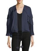 Carissa Tiered-Ruffle Jacket
