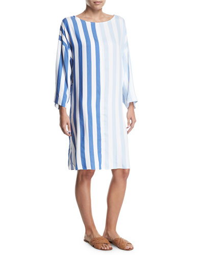 Larkin Striped Long-Sleeve Dress