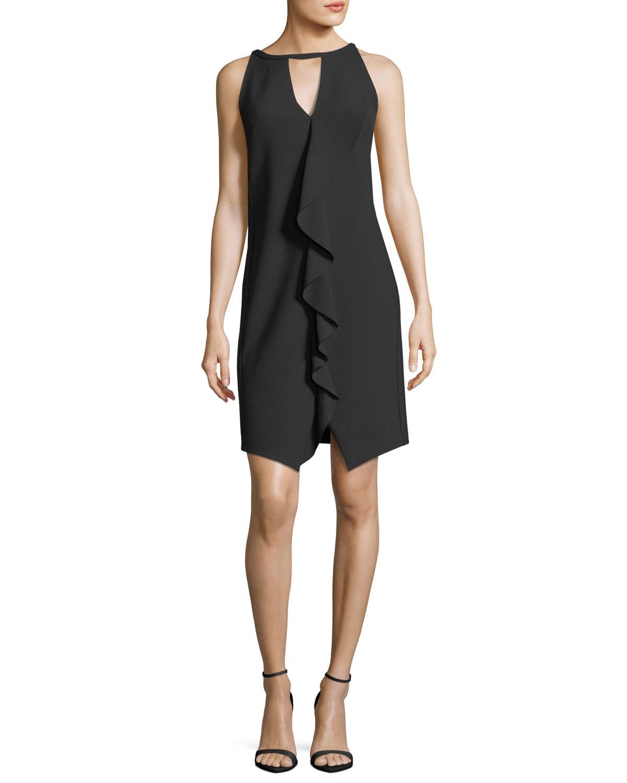 Sleeveless Luxe Drape Keyhole Dress