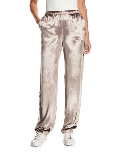 Crushed Velvet Track Pants