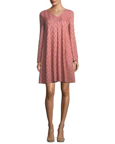 Zigzag-Jersey Swing Dress
