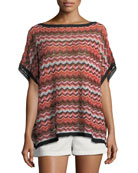 Zigzag-Print Wedge Top