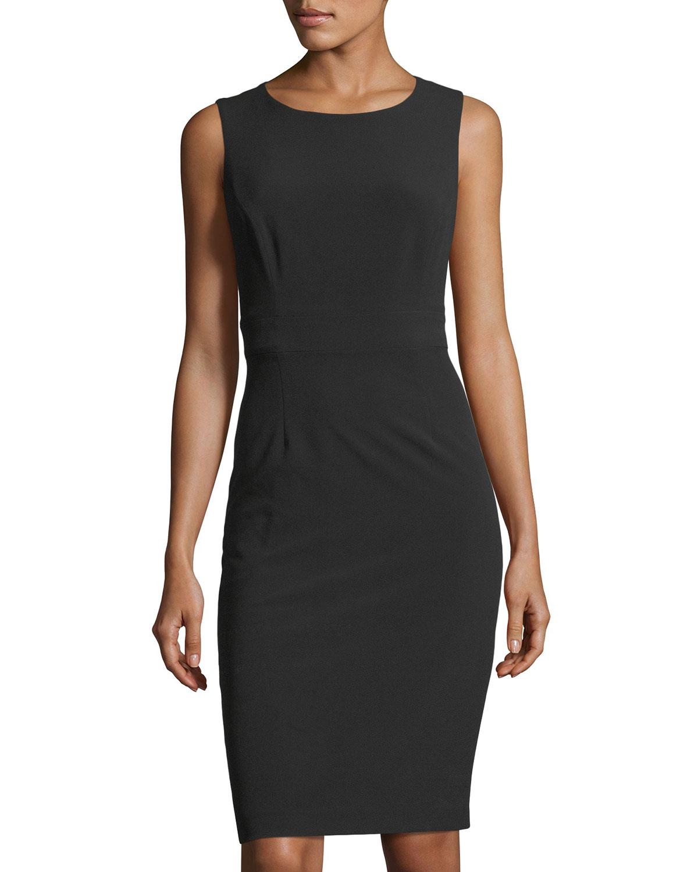 Sleeveless Back-Cutout Sheath Dress