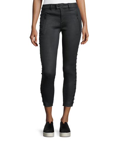 Florence Lace-Up Skinny Crop Pants