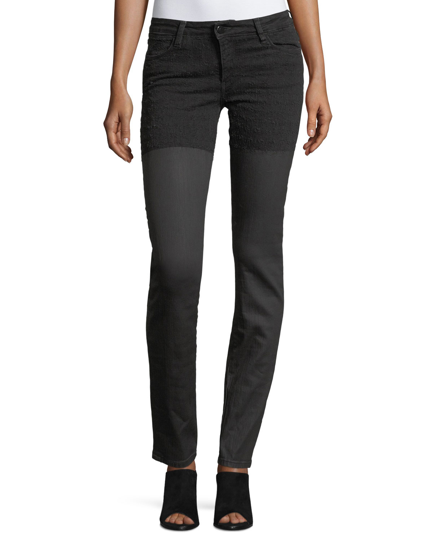 Emma Waxed Skinny-Leg Jeans