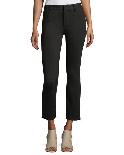 Jacqueline Ponte Straight-Leg Pants