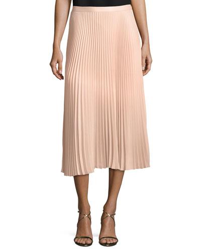 Annina Pleated A-line Midi Skirt