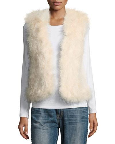 Violet Marabou Feather Vest, Pink