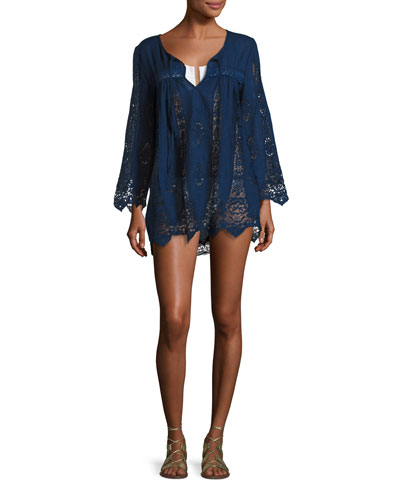 Carnaby Crocheted Tunic Coverup