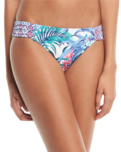 Marjorelle Side-Shirred Hipster Swim Bottoms