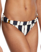 Bia Isla Full Coverage Swim Bikini Bottom, Blue