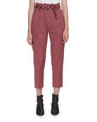 Oah Rosewood City High-Waist Cropped Pants