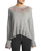 Emira Crewneck Long-Sleeve Wool Sweater