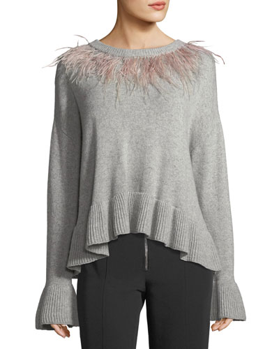 Emira Crewneck Long-Sleeve Wool Sweater