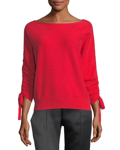 Dannee Boat-Neck Wool-Cashmere Sweater