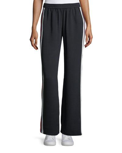 Perlyn Wide-Leg Pants Side-Stripe Pull-On Pants