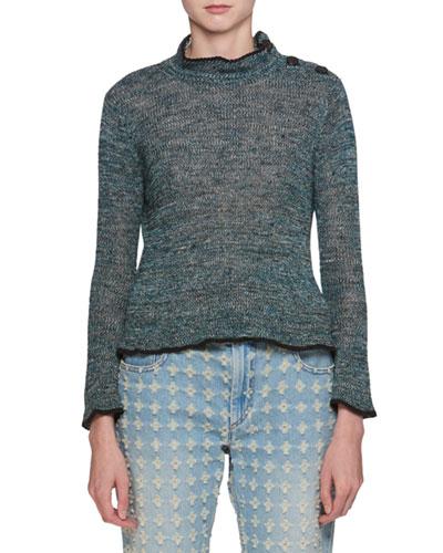 Barton Long-Sleeve Linen Top