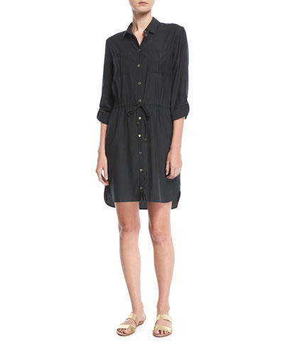 Maine Mini Shirtdress Coverup