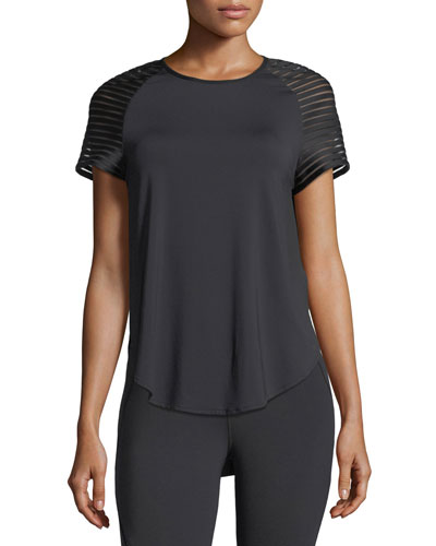 Michi Banda Crewneck Short-Sleeve Top