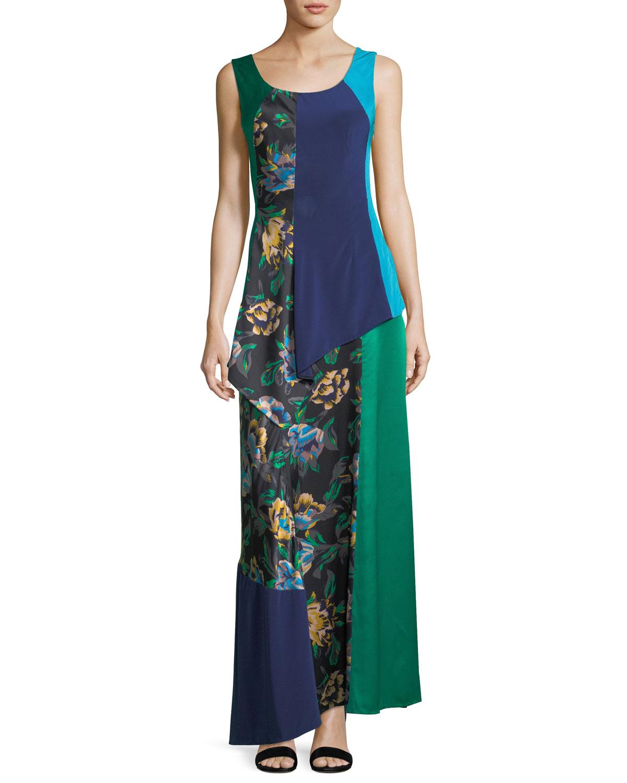 Sleeveless Scoop-Neck 2-Layer A-line Dress
