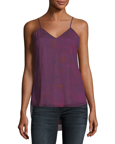 Rebirth V-Neck Printed Chiffon Tank