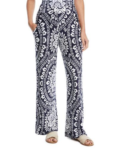 Indochine Printed Wide-Leg Pants