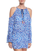 Talavera Printed Tunic Coverup
