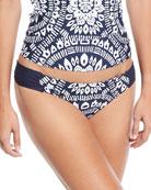 Imdochine Shirred-Side Swim Bikini Bottoms