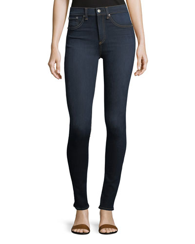 High Rise Skinny Jeans, Dark Blue