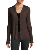 Halsey Button-Front Ribbed Cardigan