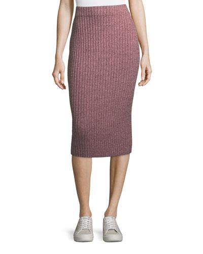 Jubilee Ribbed Metallic Midi Skirt