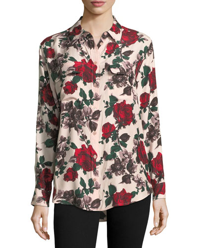 Signature Multi Floral-Print Blouse