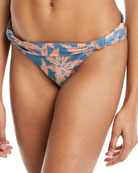Margarita Bia Tube Floral-Print Full Swim Bikini Bottoms