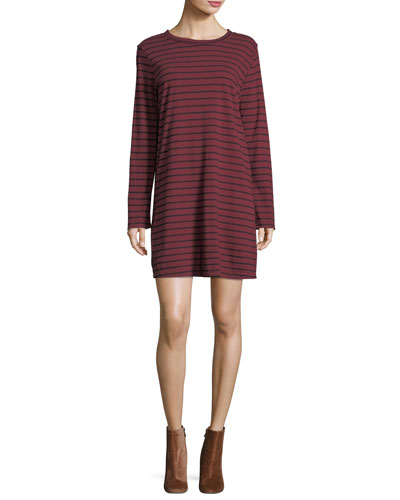 The Beatnik Long-Sleeve Striped Dress