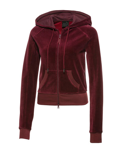 Fitted Velour Track Jacket