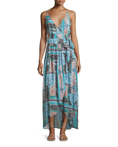Moroccan Moon Maxi Wrap Dress